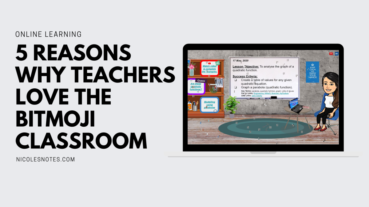 "5 Reasons why teachers love the Bitmoji Classroom (Featuring the Founder of Facebook group ""Bitmoji Craze for Educators"", Dr. Allatesha Cain)"