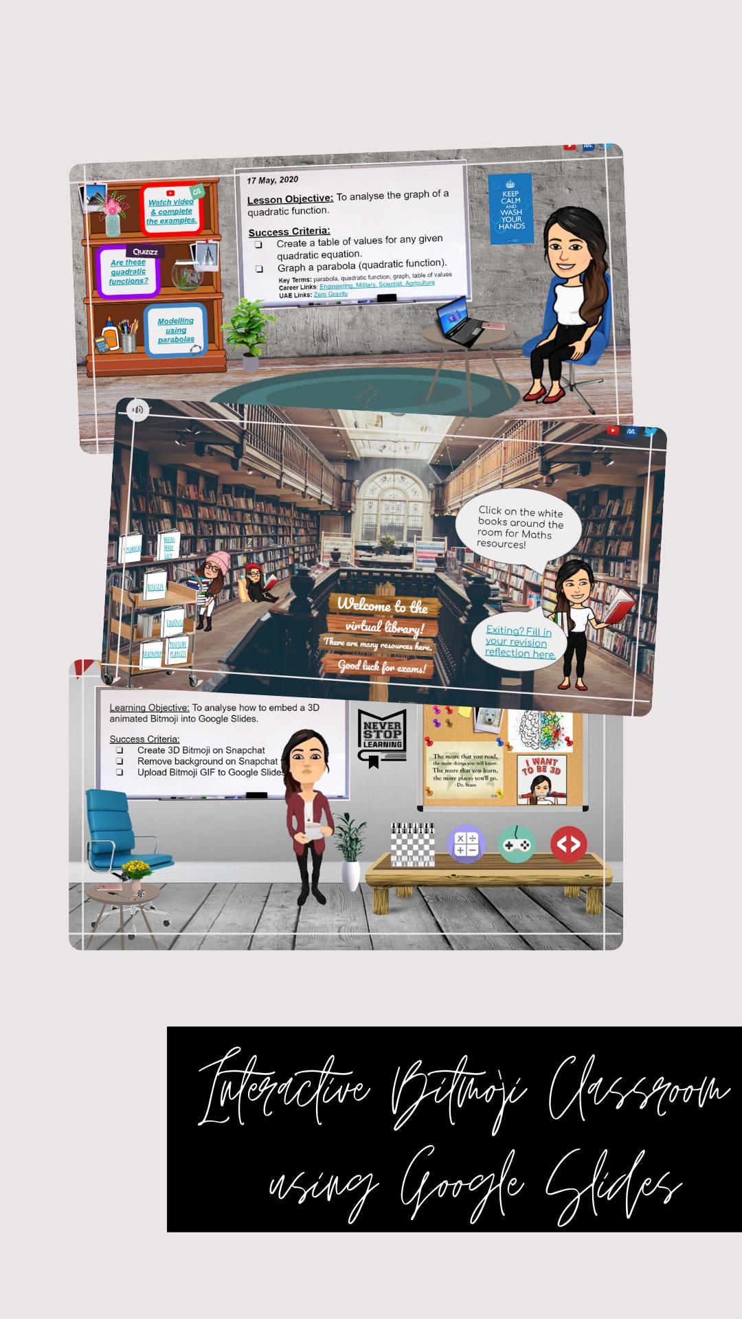Interactive Bitmoji Classroom